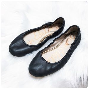 Sam Edelman black leather flats 9.5